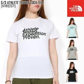新作 THE NORTH FACE ノースフェイス ショートスリーブ アスリート テステッド ロゴ ティー S/S ATHLETE TESTED LOGO TEE Tシャツ トップス NTW82071 レディース