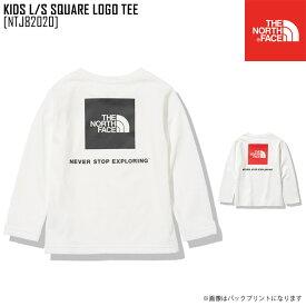 新作 THE NORTH FACE ノースフェイス キッズ ロングスリーブ スクエア ロゴ ティー KIDS L/S SQUARE LOGO TEE Tシャツ トップス NTJ82020 キッズ