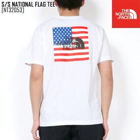 春夏新作 ノースフェイス THE NORTH FACE NT32053 S/S ナショナル フラッグ ティー S/S NATIONAL FLAG TEE Tシャツ トップス メンズ