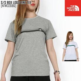 春夏新作 ノースフェイス THE NORTH FACE NTW32086 S/S ボックス ロゴ ライン ティー S/S BOX LOGO LINE TEE Tシャツ トップス レディース