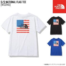 2021 春夏新作 ノースフェイス THE NORTH FACE NT32145 ショートスリーブ ナショナル フラッグ ティー S/S NATIONAL FLAG TEE Tシャツ トップス メンズ