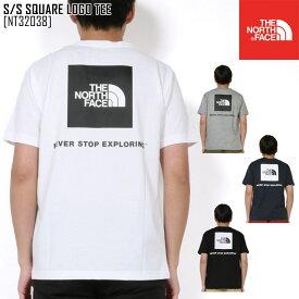 2020 春夏 新作 ノースフェイス THE NORTH FACE ショートスリーブ スクエア ロゴ ティー S/S SQUARE LOGO TEE Tシャツ トップス NT32038 メンズ