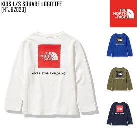 セール SALE ノースフェイス THE NORTH FACE キッズ ロングスリーブ スクエア ロゴ ティー KIDS L/S SQUARE LOGO TEE Tシャツ トップス NTJ82020 キッズ