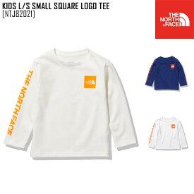 2021 春夏 新作 ノースフェイス THE NORTH FACE キッズ ロングスリーブ スモール スクエア ロゴ ティー KIDS L/S SMALL SQUARE LOGO TEE Tシャツトップス NTJ82021 キッズ