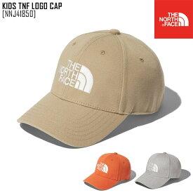 21-22 秋冬 新作 ノースフェイス THE NORTH FACE キッズ TNF ロゴ キャップ KIDS TNF LOGO CAP 帽子 キャップ NNJ41850 キッズ