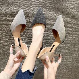 ハイヒール レディース パンプス ポインテッドトゥ ピンヒール ドレス パーティ 靴 痛くない PU 卒業式 入学式 結婚式 ママ オフィス ヒール フォーマル キャバクラ キャバ おしゃれ 脱げない 婦人靴 優雅 母の日 カジュアル nvxie-035