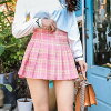 It is child mix-and-match present party BQ-012 of the fashion feminine unhurried mini-cart thin Natsuaki entrance ceremony woman in a skirt beauty cute student Lady's flared skirt outing casual check mini-length knee