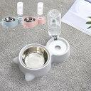 自動水飲み器 ペット食器台 皿 餌入れ スタンド 動物 フードボウル 猫 ペット 3色 食器 お水入れ 猫ボウル 犬 セット 容器 自動給水器 CW015