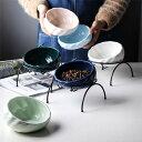 ペット食器台 皿 餌入れ スタンド 陶器 フードボウル 猫 ペット 食器 お水入れ 猫ボウル 犬 セット 容器 給水 給食器 …