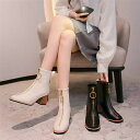 ブーツ フロントジップ レディース PU ファスナー ラウンドトゥ ショートブーツ カジュアル 上品 ミドルブーツ プチプラ ブラック 痛くない 歩きやすい 美脚 通勤 キャバクラ キャバ 優雅 アウトドア チャンキーヒール ハイヒール 婦人靴 優雅 母の日 カジュアル nvxie-212