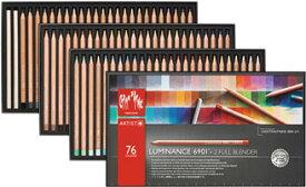 カランダッシュ鉛筆 ルミナンス 6901 76色セット 紙箱油性色鉛筆 軟芯