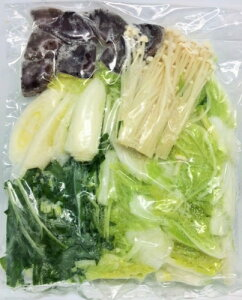 冷凍野菜ミックス(お鍋用) 国産(徳島、岡山産など) 200g(二人前) 冷凍野菜 【消費税込み】