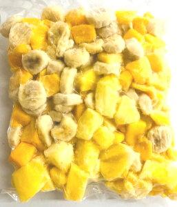 冷凍トロピカルフルーツ (マンゴー、バナナ、パイン)1000g マンゴー(ペルー)バナナ(フィリピン)パイン(コスタリカ)国内ミックス品【消費税込み】