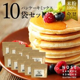 グルテンフリー ホットケーキミックス パンケーキミックス10袋セット 100g×10袋 小麦粉不使用 アレルギー対応 国産 米粉 グルテン フリー ケーキミックス コンテスト 受賞 おすすめ 食品 粉 パンケーキ アルミニウムフリー 日本製