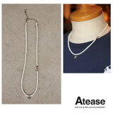 AteaseアティースNEWMILITARYWHITESHELLNECKLACEミリタリースターシェルビーズネックレスビーズネックレスAN-MSTR-WH