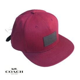 COACH コーチ メンズ レディース キャップ CAP アメリカ買付品 正規品 本物 ベースボールキャップ F33774 BURGUNDY バーガンディ