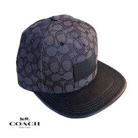 COACH コーチ メンズ レディース キャップ CAP アメリカ買付品 正規品 本物 ベースボールキャップ F68861 Black×Black ブラック×ブラック コーチテキスタイル