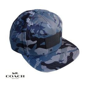 COACH コーチ メンズ レディース キャップ CAP アメリカ買付品 正規品 本物 ベースボールキャップ F75704 BLUE MULTI CAMO ブルーマルチカモ