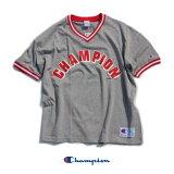 Champion(チャンピオン)VネックTシャツC3-P313オックスフォードグレーXLビッグサイズ限定