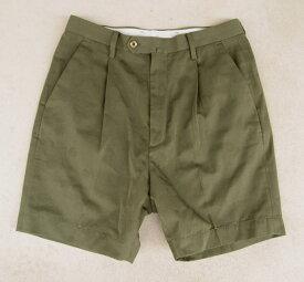 (17SS) (フレッドペリー) FRED PERRY #F4430 Textured Shorts テクスチャード ショートパンツ メンズ ドビーツイル 短パン フレペ (月桂樹/men's/柄/膝丈/ショーツ/スポーツ/ストリート) OLIVE オリーブ