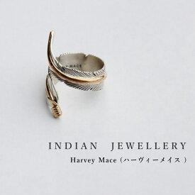 インディアンジュエリー リング Harvey Mace ハーヴィーメイス 12KGF シルバー イーグルフェザーリング RING プレゼントラッピング対応