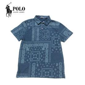 Polo Ralph Lauren ペイズリー柄ポロシャツ メンズ アメリカ買付商品 インディゴブルー ポロラルフローレン