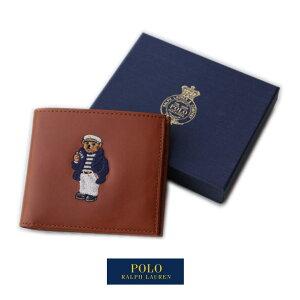 Polo Ralph Lauren ポロラルフローレン ショートウォレット SHORT WALLET コインケースレス ポロベア Polo Bear レザー製