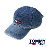 TOMMYJEANSコットンキャップベースボールキャップメンズ・レディースCAP帽子アメリカ買付品デニムDENIMトミージーンズアウトドアソロキャン