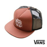Vansキャップ帽子バンズおしゃれな帽子メンズ・レディース対応夏場の日除け対策に♪BROWNメッシュキャップ