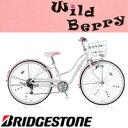 自転車 少女車 ブリヂストン (BRIDGESTONE) 少女用自転車 ワイルドベリー WB466 24インチ変速なし