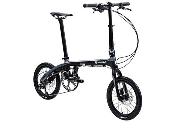 【2018モデル RENAULT ルノー Carbon8(カーボン8 C169)】 16インチ 折畳自転車 超軽量8.7kg!カーボンフレーム・前後油圧式ディスクブレーキ・高さ調節機能付きアルミハンドルステム・SHIMANO「SORA」9段変速を装備