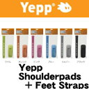 Yepp Shoulderpads + Feet Straps(イエップ ショルダーパッド + フットストラップ 前乗せ・後乗せ兼用)【専用チャイルドシートオプ...
