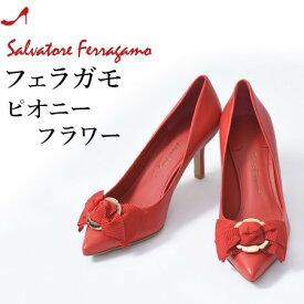 フェラガモ パンプス リボン ポインテッドトゥ ハイヒール Salvatore Ferragamo レディース 正規品 ブラック 黒 ピンク 赤 レッド 小さいサイズ 22cm 大きいサイズ 25cm 26cm
