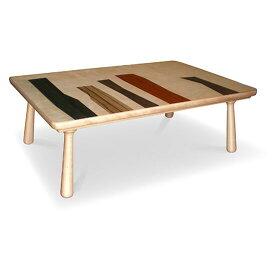 5色の天然木 国産こたつテーブル105 コクタン ダオ ウォールナット カリン バーチ 多色使い リビングテーブル WOODPATTERN 北欧 コタツ 炬燵 こたつ 北欧デザイン