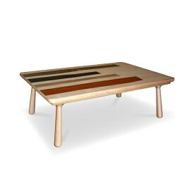 Quant 5色の天然木 国産こたつテーブル120 コクタン ダオ カリン ウォールナット バーチ 多色使い ウッドパターン北欧テイスト デザイナーズ コタツ 炬燵