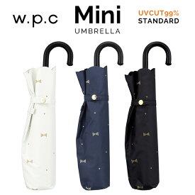 【Wpc】 日傘 遮光遮熱傘 折りたたみ傘 晴雨兼用傘 GEM RIBBON mini w.p.c ワールドパーティー