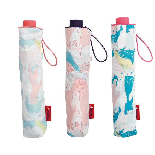 【Amane】レディース折りたたみ傘 kumakamo 三つ折 軽量165g 折りたたみ傘 Amane/中谷