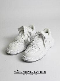 "【Maison MIHARA YASUHIRO / メゾン ミハラヤスヒロ】 ""WAYNE"" OG Sole Leather Low-top Sneaker A07FW702 - WHITE"