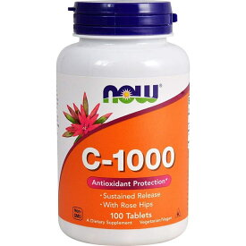 ★Now Foods公式ストア★ナウフーズ ビタミンC-1000 タイムリリース 100 錠【Now Foods】Vitamin C-1000 Sustained Release 100 Tablets