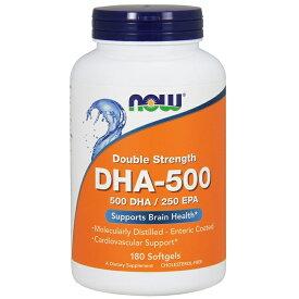 ★Now Foods公式ストア★ナウフーズ DHA-500 180錠【NOW FOODS】DHA-500 180 softgels