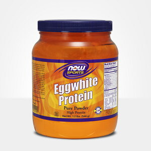 ★Now Foods公式ストア★ナウスポーツ エッグホワイト(卵白蛋白質)プロテイン 544g【NOW SPORTS】Eggwhite Protein 1.2 lbs