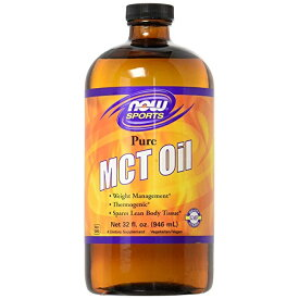 ★Now Foods公式ストア★ナウスポーツ ピュアMCTオイル、ココナッツ抽出 946ml 【NOW FOODS】 MCT Oil, Pure 32 fl oz