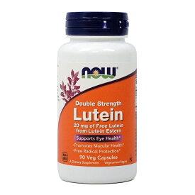 【Now Foods公式ストア & 8/15限定 ポイント2倍!】 ナウフーズ ルテインダブルストレングス 20mg 90ベジカプセル 【NOW FOODS】 Lutein, Double Strength mg 90 Veg Capsules
