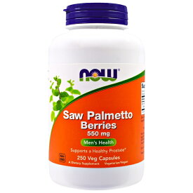 ★Now Foods公式ストア★ナウフーズ ソーパルメット ベリー (ノコギリヤシ) 550mg 250錠【NOW FOODS】Saw Palmetto Berries 550 mg 250 Veggie Caps