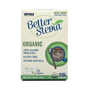★Now Foods公式ストア★ナウフーズ ベターステビア ゼロカロリー 75 包 75g 【Now Foods】Better Stevia, Organic 75 Packets