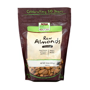 ★Now Foods公式ストア★ナウフーズ リアルフード 生アーモンド 無塩 454g 【Now Foods】Raw Almonds, Unsalted 16 oz