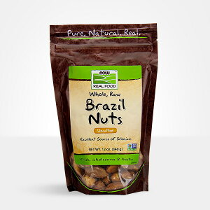 ★Now Foods公式ストア★ナウフーズ ブラジル ナッツ(無塩) 340g 【Now Foods】 Brazil Nuts, Whole, Raw, Unsalted 12 oz