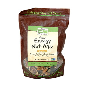 ★Now Foods公式ストア★ナウフーズ リアルフード 生のエネルギーナットミックス 無塩 454g 【Now Foods】Raw Energy Nut Mix, Unsalted 16 oz