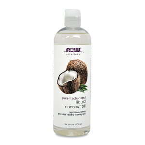 【NOW Foods公式ストア】 ナウフーズ リキッドココナッツオイル 473ml 【NOW Foods】Pure Fractionated Liquid Coconut Oil 16 fl oz
