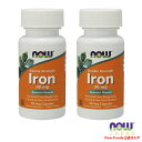 【Now Foods公式ストア】 ナウフーズ 鉄 ダブルストレングス 36mg 90粒 2本セット 【NOW FOODS】Iron Double Strength…
